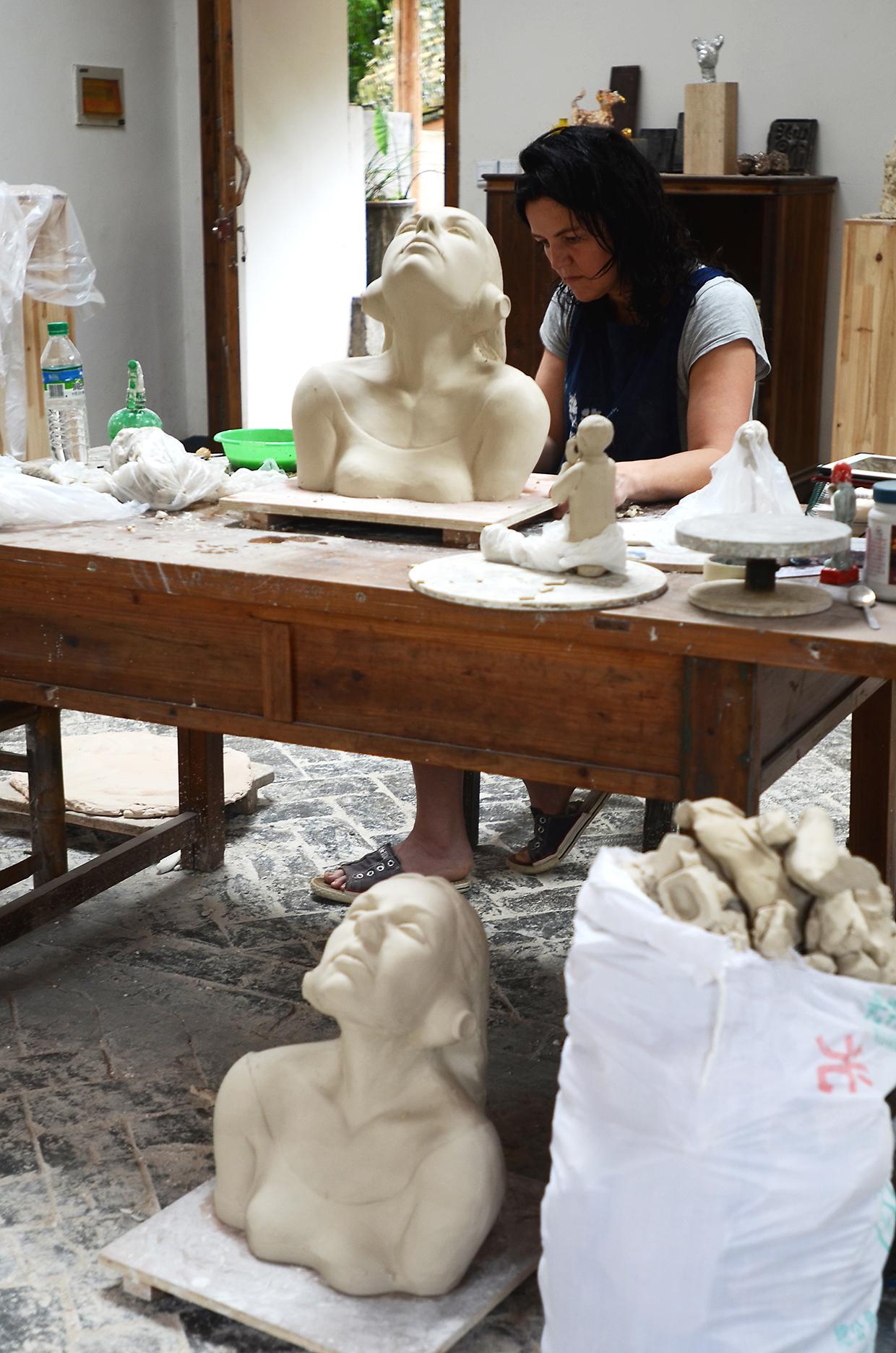 Mariette in atelier 3