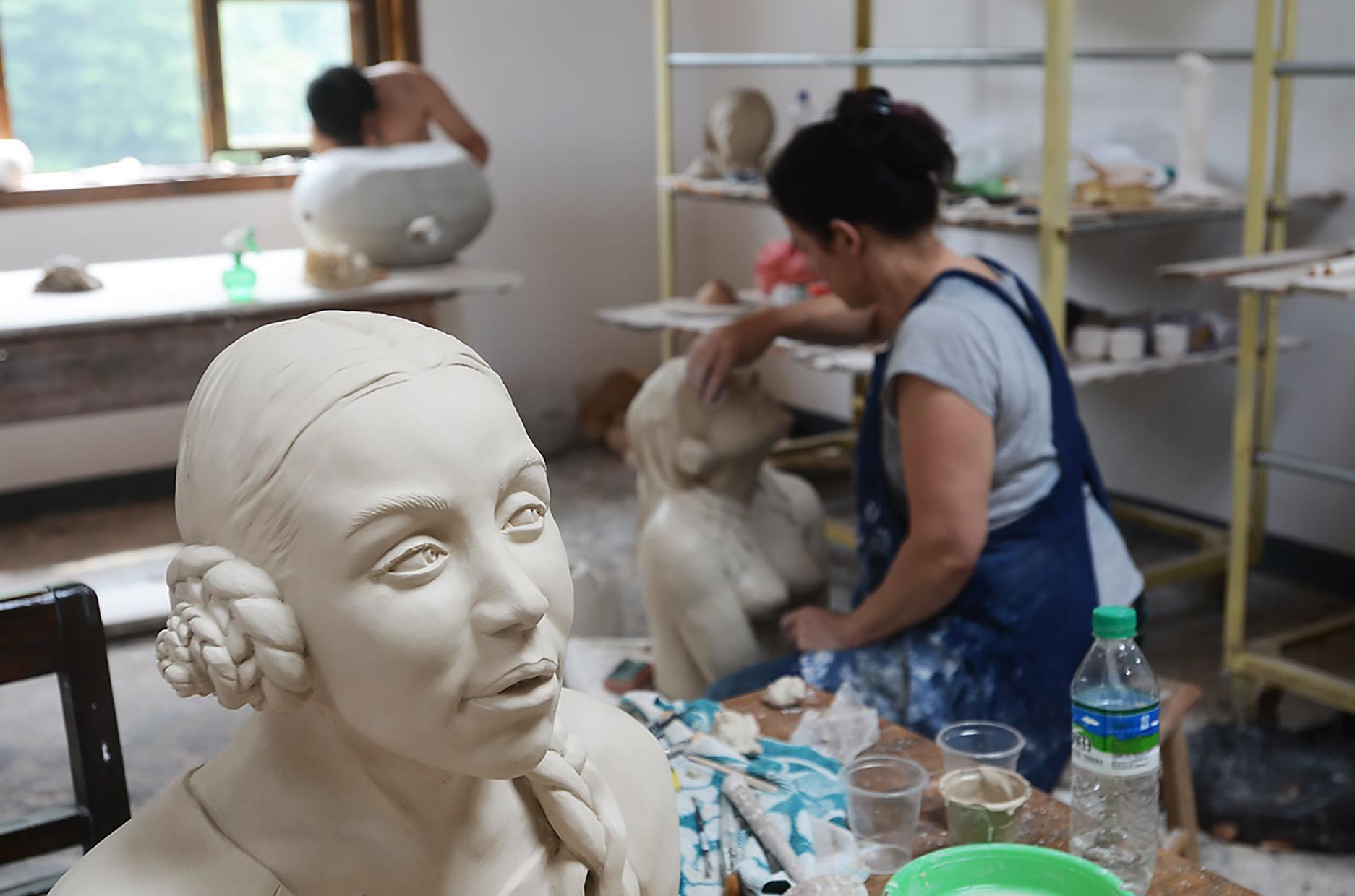 Mariette in atelier